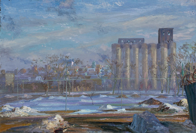 Port Authority Grain Silos, 30 x 42""