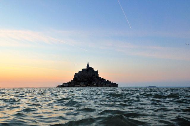 Le mont à marée haute