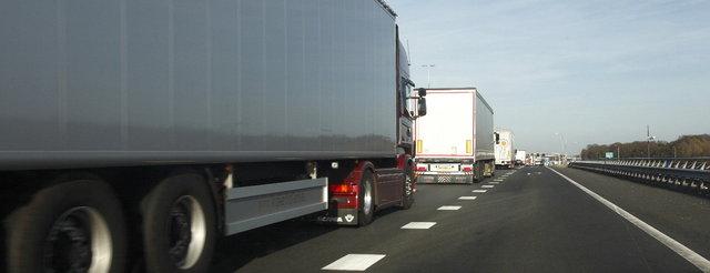 vrachtwagen rij