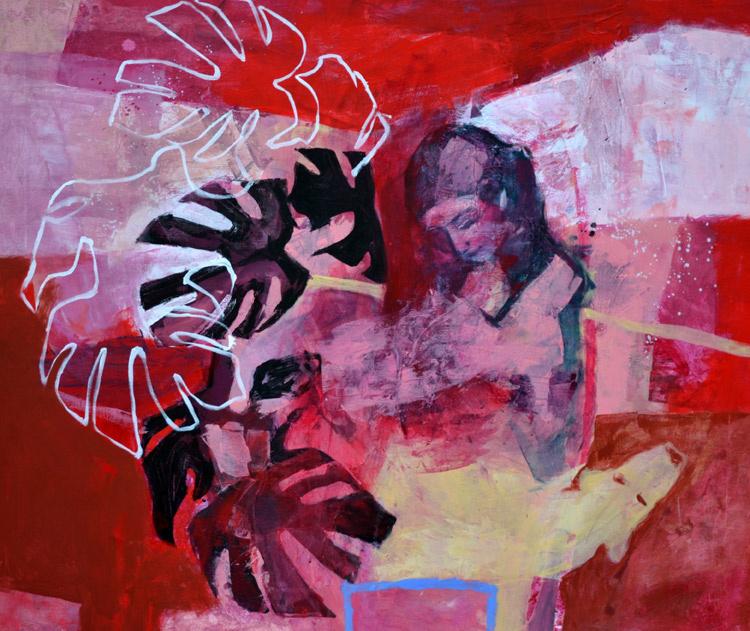 Intuicje 5 120/100 2011r akryl na płótnie