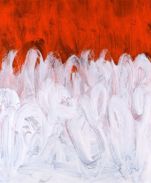 White rising over Orange Red, 2011.