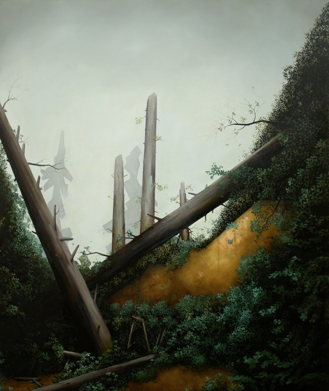 Hazy Green, 2011, oil on canvas, 72 x 60""