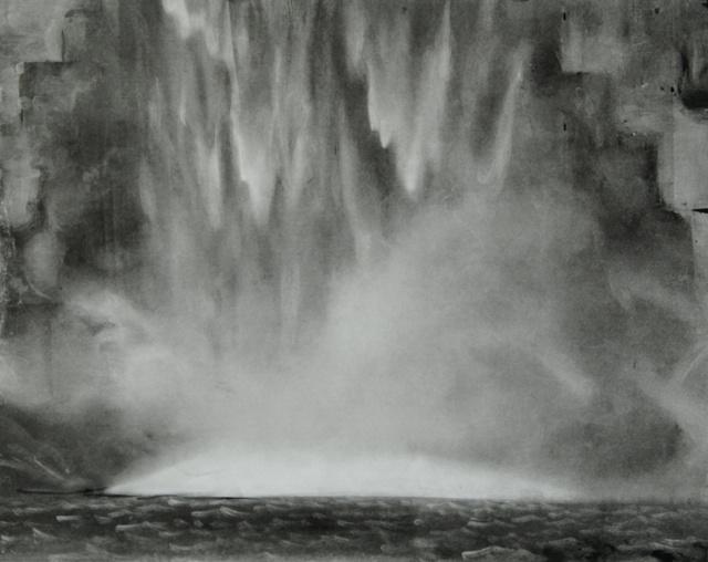 """Taughannock Falls, 23 x 28"""""""