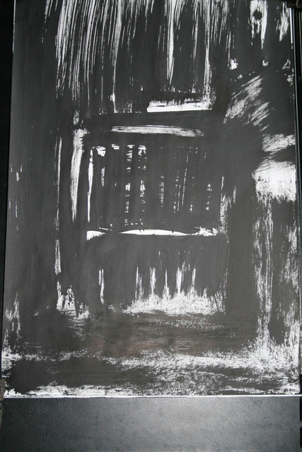 wnętrze12, 21x30, tempera/papier,
