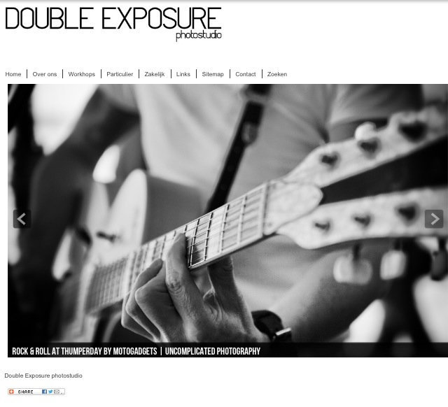 Website for Double Exposure