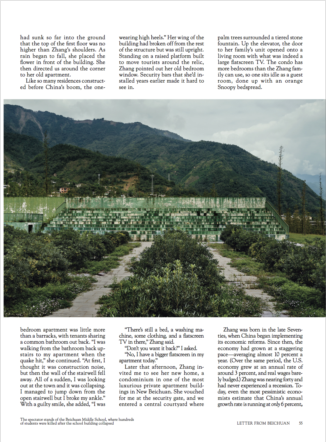 LETTER FROM BEICHUAN — From the June 2017 issue