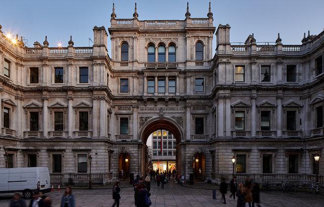 the Royal Academy of Arts, Burlington House