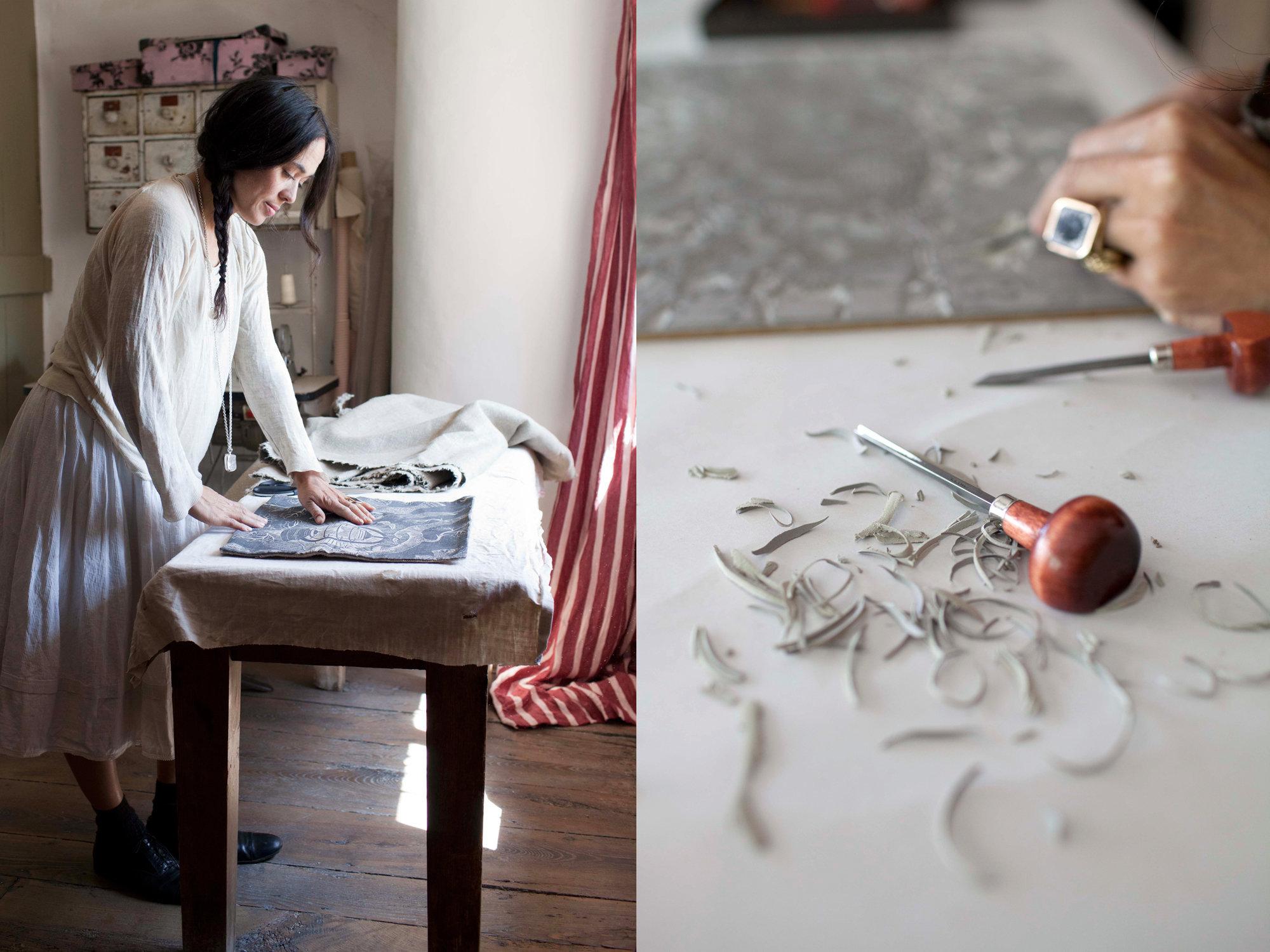 Janet Tristram / 'Bonfield Block-Printers'