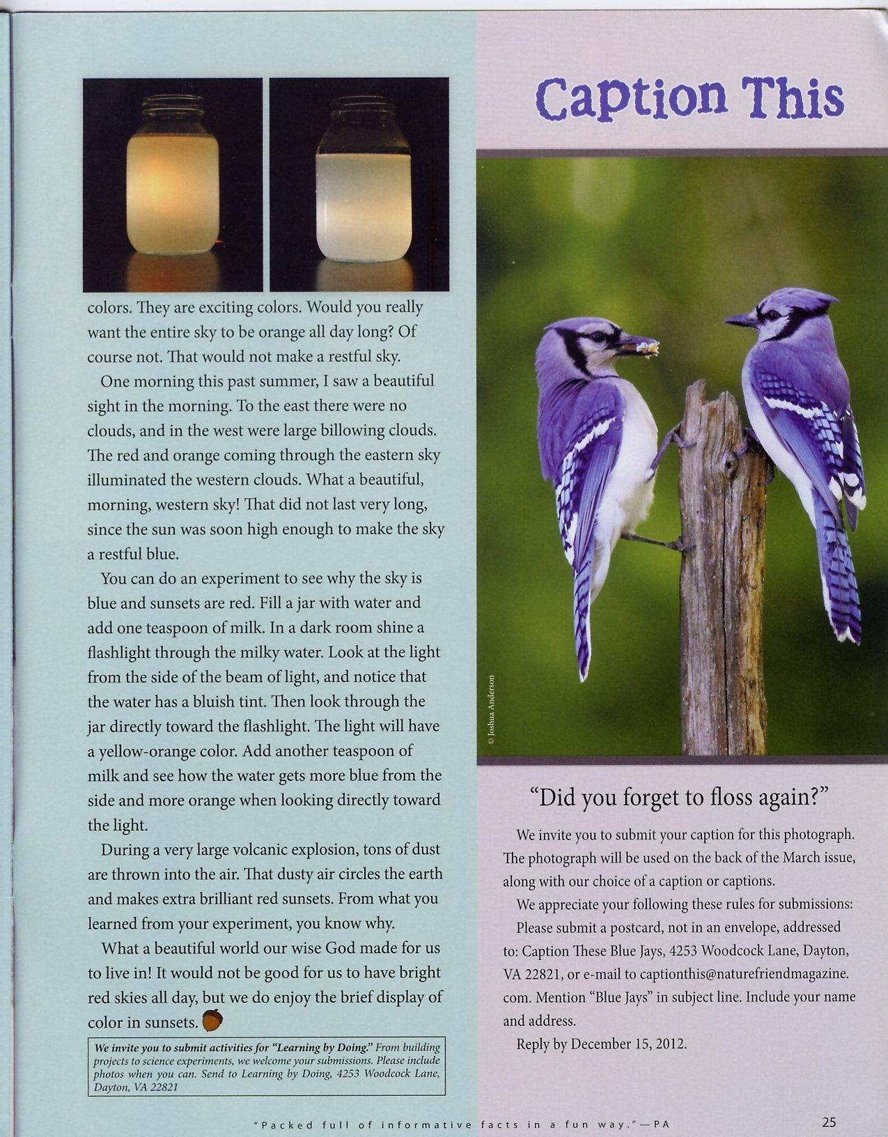 Nature Friend Magazine (inside); © November 2012