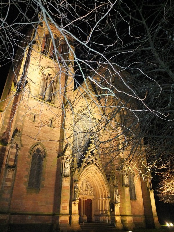 Night Lights Cathedral 2 by Ali Gracie