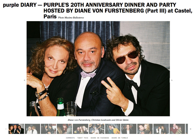 purple DIARY   PURPLE S 20TH ANNIVERSARY DINNER AND PARTY HOSTED BY DIANE VON FURSTENBERG  Part III