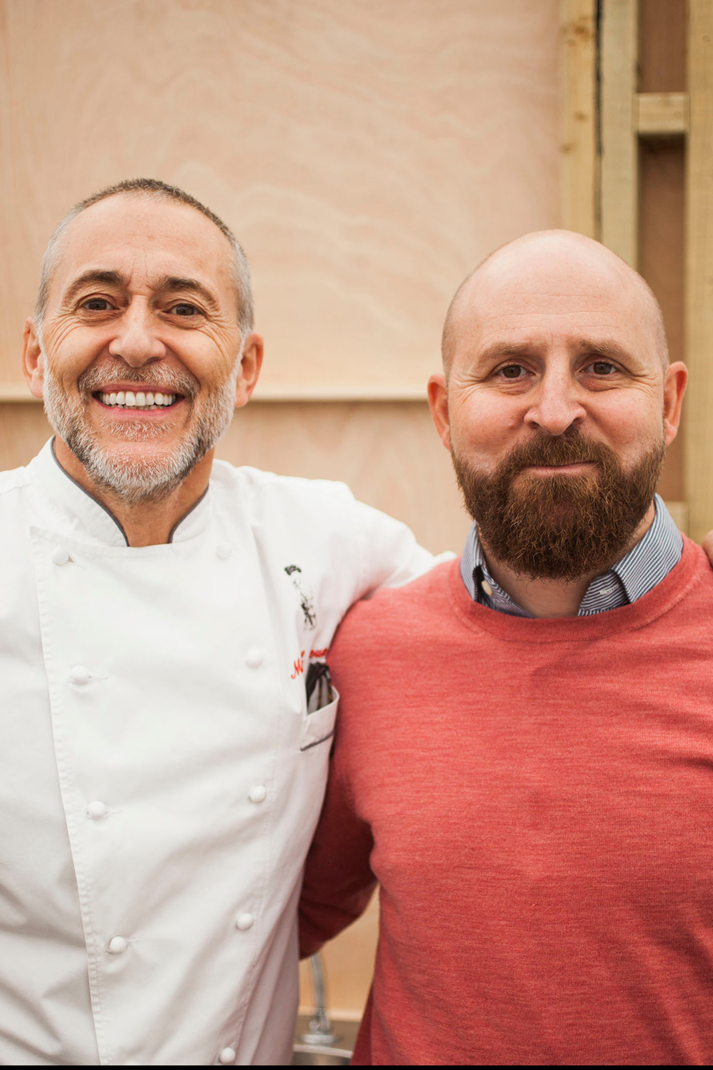 Michel Roux Jnr and Barney Desmazery