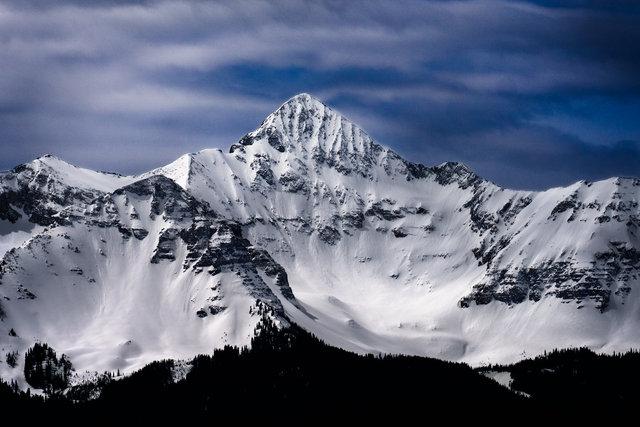 Wilson Peak Ski Tracks