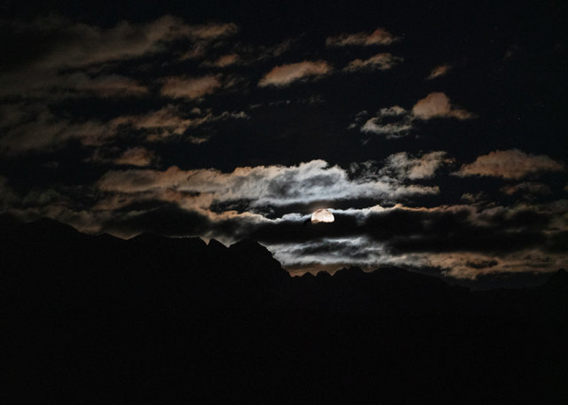 Full Moon San Juan Mountains