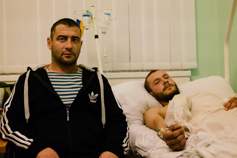 Injured soldiers.