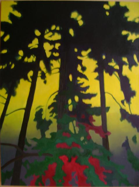 Drzewo 120x90 olej płótno