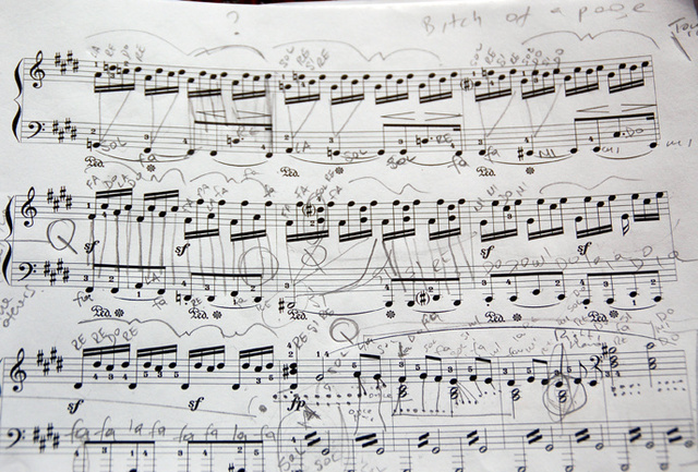Notes on Moonlight Sonata's music scores