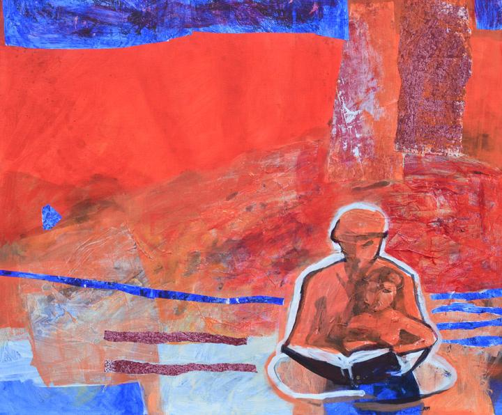 Przestrzeń miłości 2 120/100 2011 akryl płótno