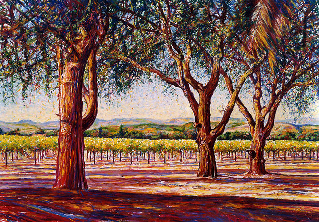 NAPA VALLEY #3, soft pastel on paper