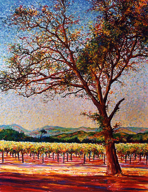 NAPA VALLEY #2, soft pastel on paper