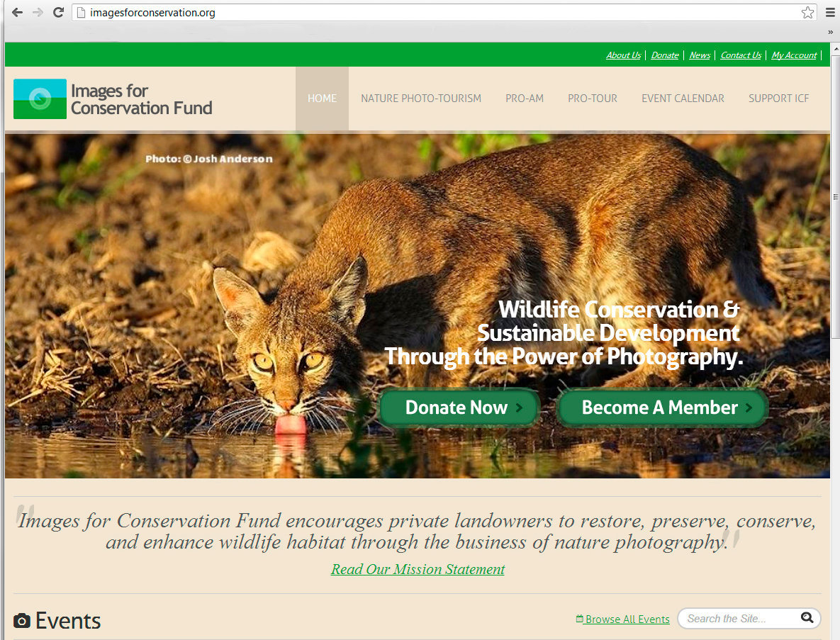 Images For Conservation (website homepage) ©2014-2013