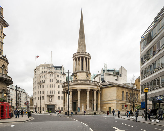 All Souls, Langham Place. Sir John Nash