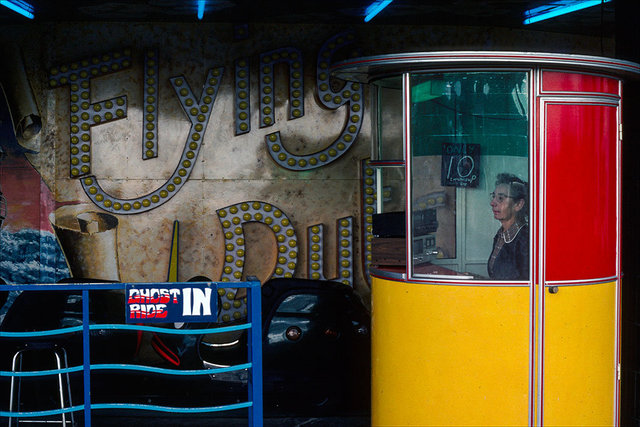 Woman in a Cash Booth (ghost train)