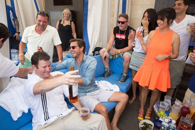 Kourtney Kardashian and Scott Dissick cut loose at Sapphire Pool