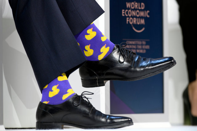 Justin Trudeau's socks - WEF - Davos - 2018