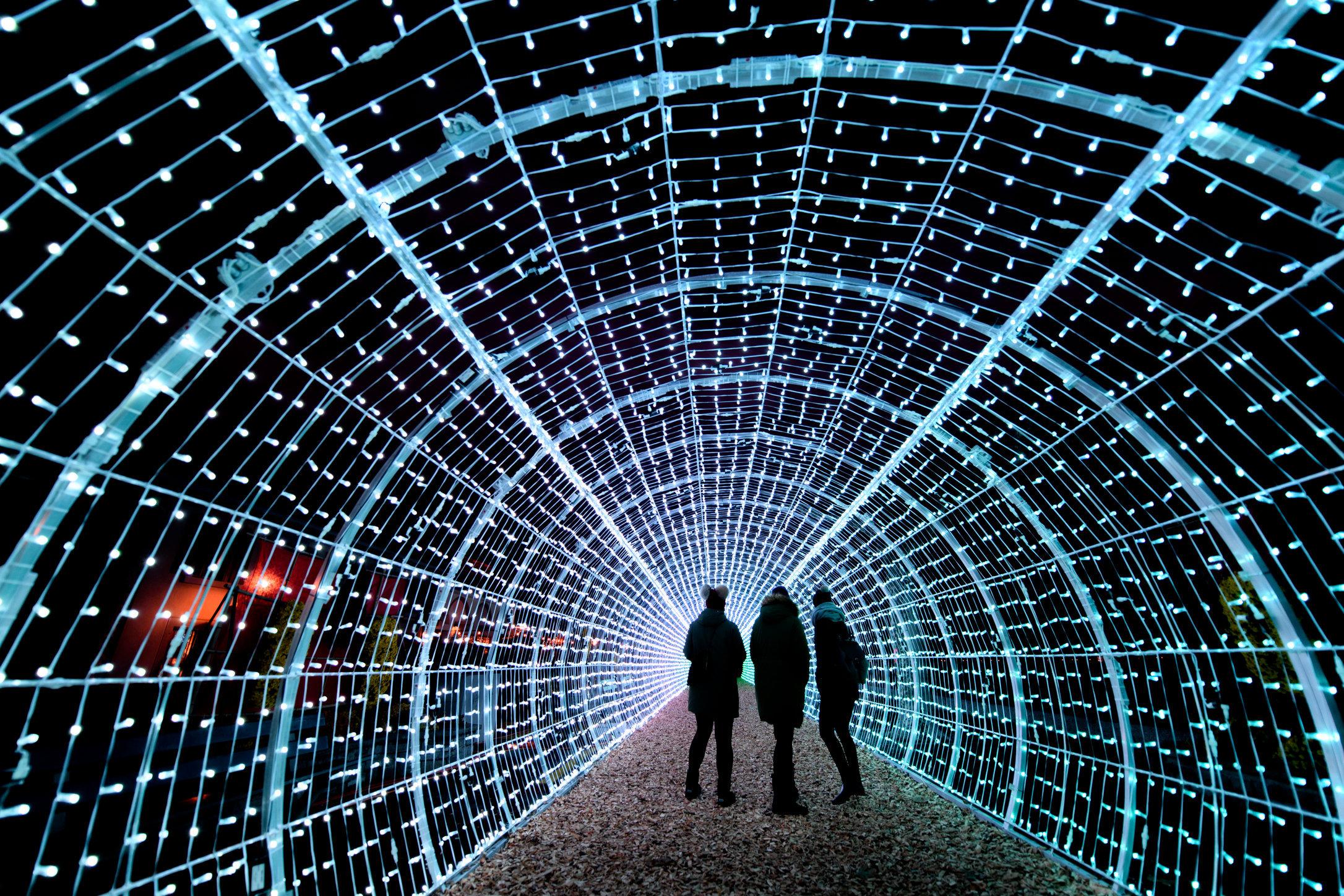 Light tunnel - Vevey - 2017