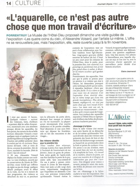 Journal L'Ajoie, 8.10.2020