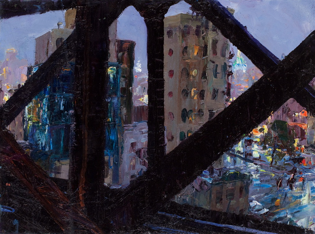Manhattan Bridge Girders II, 18 x 24""
