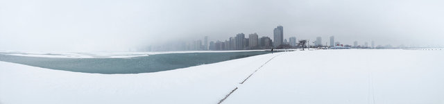 © CORDAY - Surface of The Moon - Chicago Winter, Lakefront