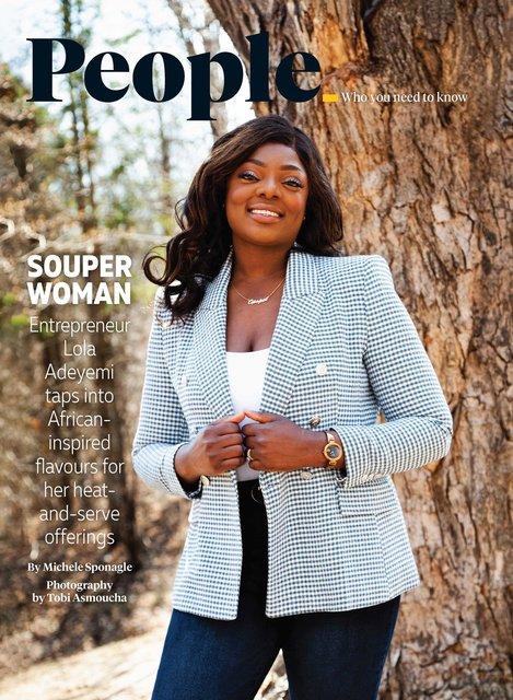 Lola Adeyemi's Portrait for Canadian Grocer