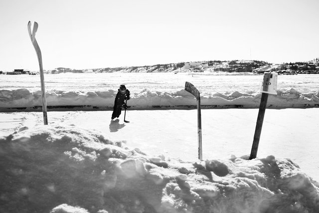 Houseboat Rink on Great Slave Lake