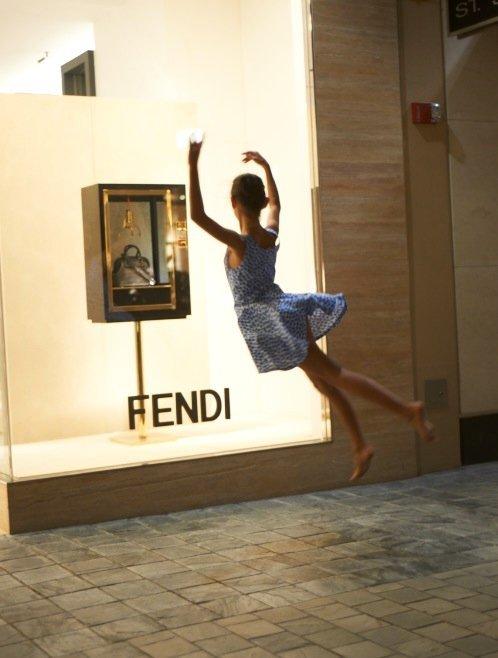 Dancing for Fendi