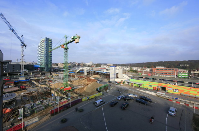 arnhem - stationsgebied bouwput