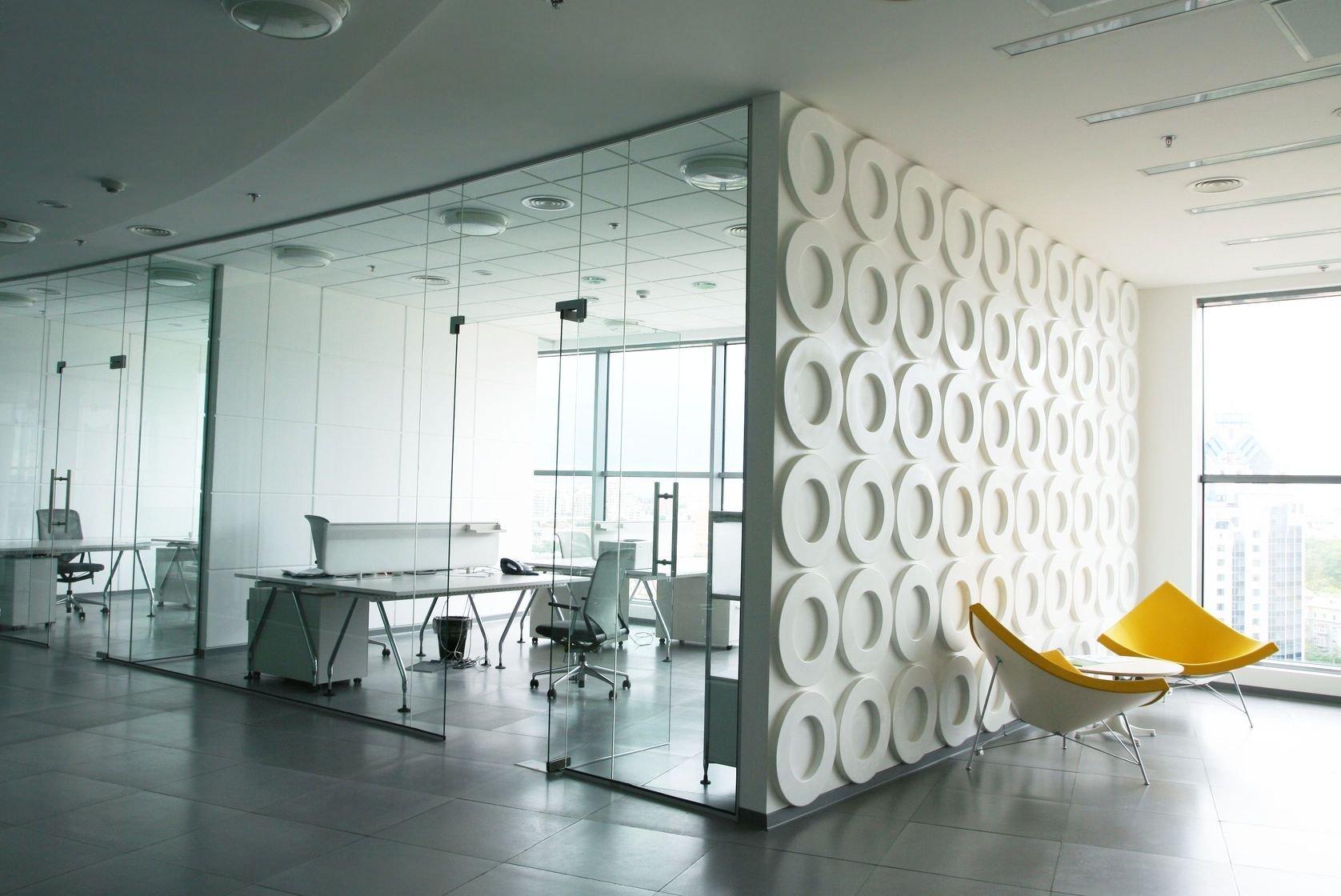 aménagements contemporains d'un plateau de bureaux