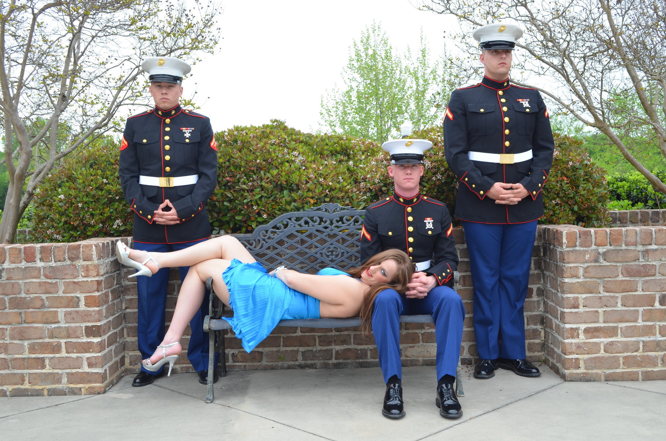 RANDY, SAMANTHA, WES,  and TY all real life marines.