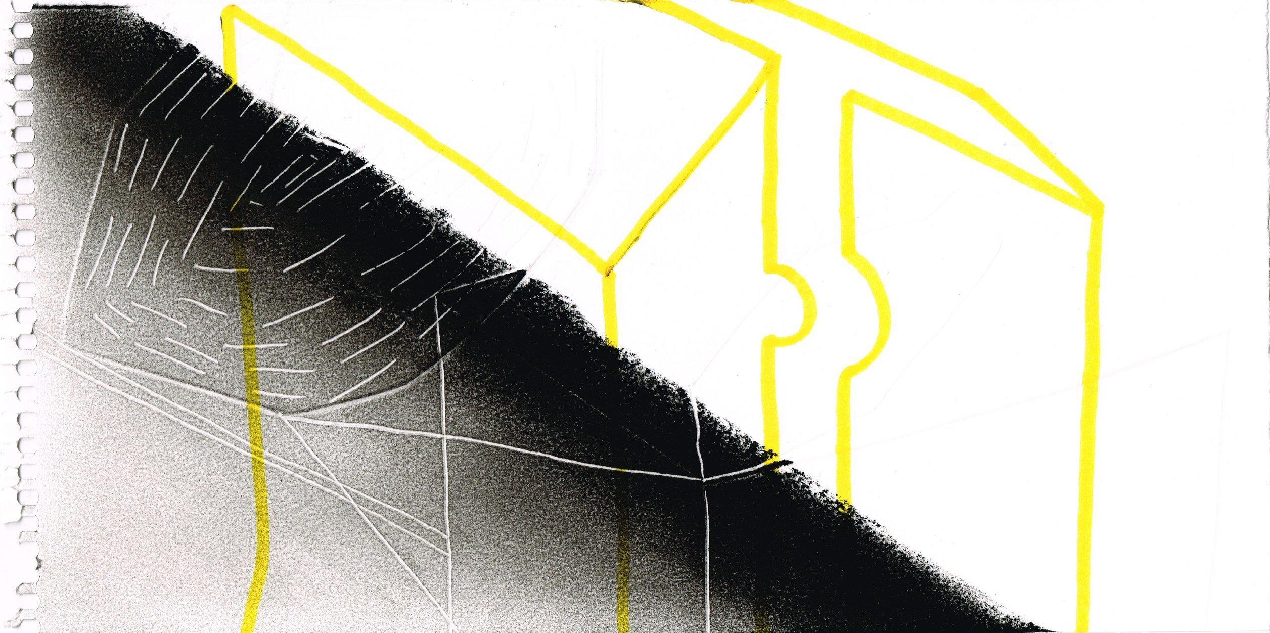 Zonder Titel, 2016, 12,7 x 23,7 cm