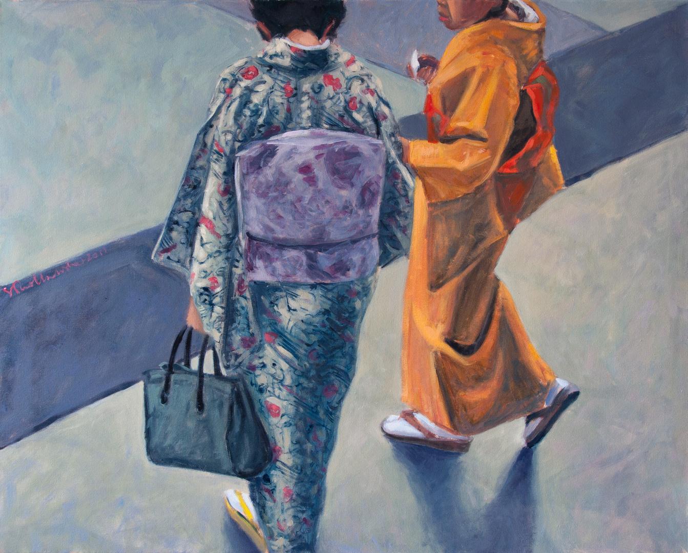 Futari no jesei (Dwie kobiety) olej na płótnie
