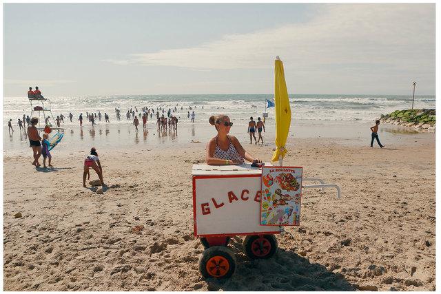 A Women Selling Ice Cream