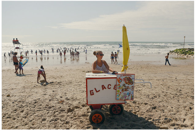 A Woman Selling Ice Cream