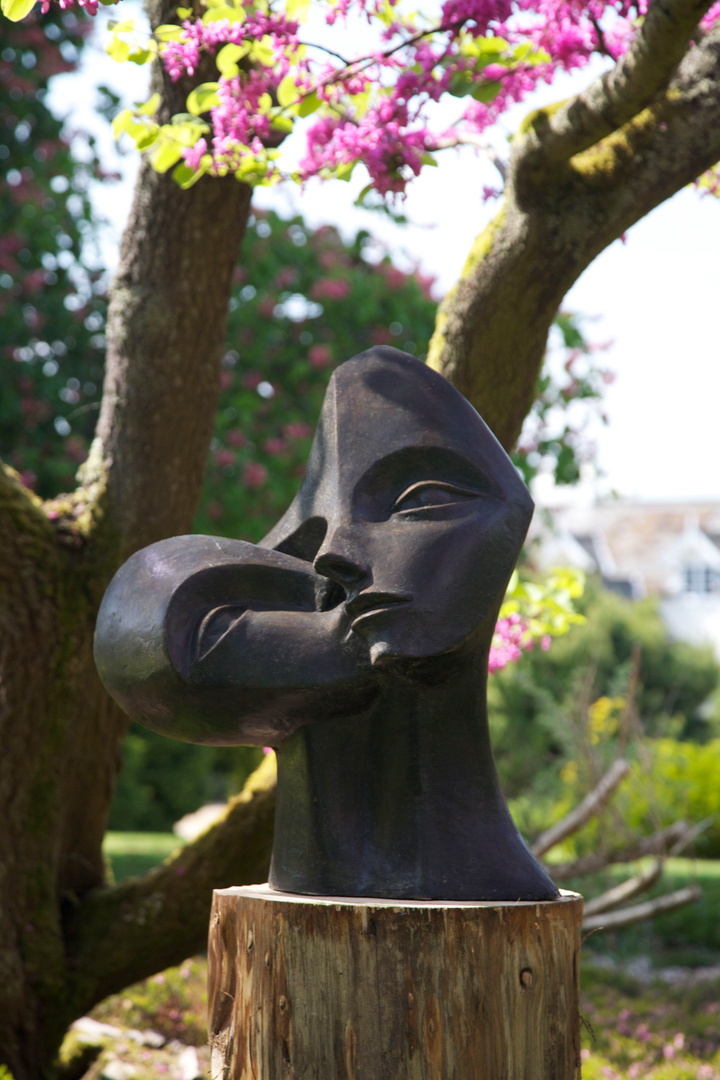 """Nurturing""  2003 Bronze Resin in Hillier Garden 2011 (Judas Tree)"
