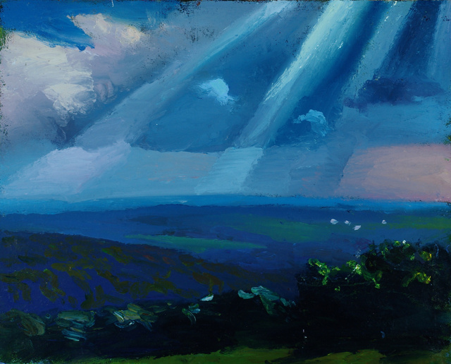 Summer Day, Ithaca, 28 x 32""