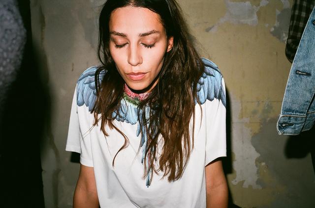 Lea T. wearing Marcelo Burlon