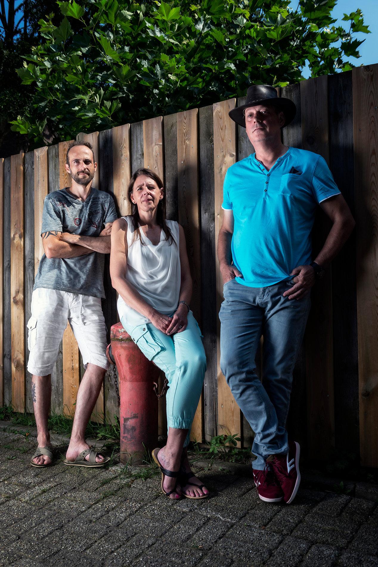 Roy Berenbroek, Gandola Hendriks en Willem Schattevoet FNV Magazine