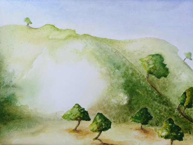 Troodos Hills and Trees by Alison Gracie
