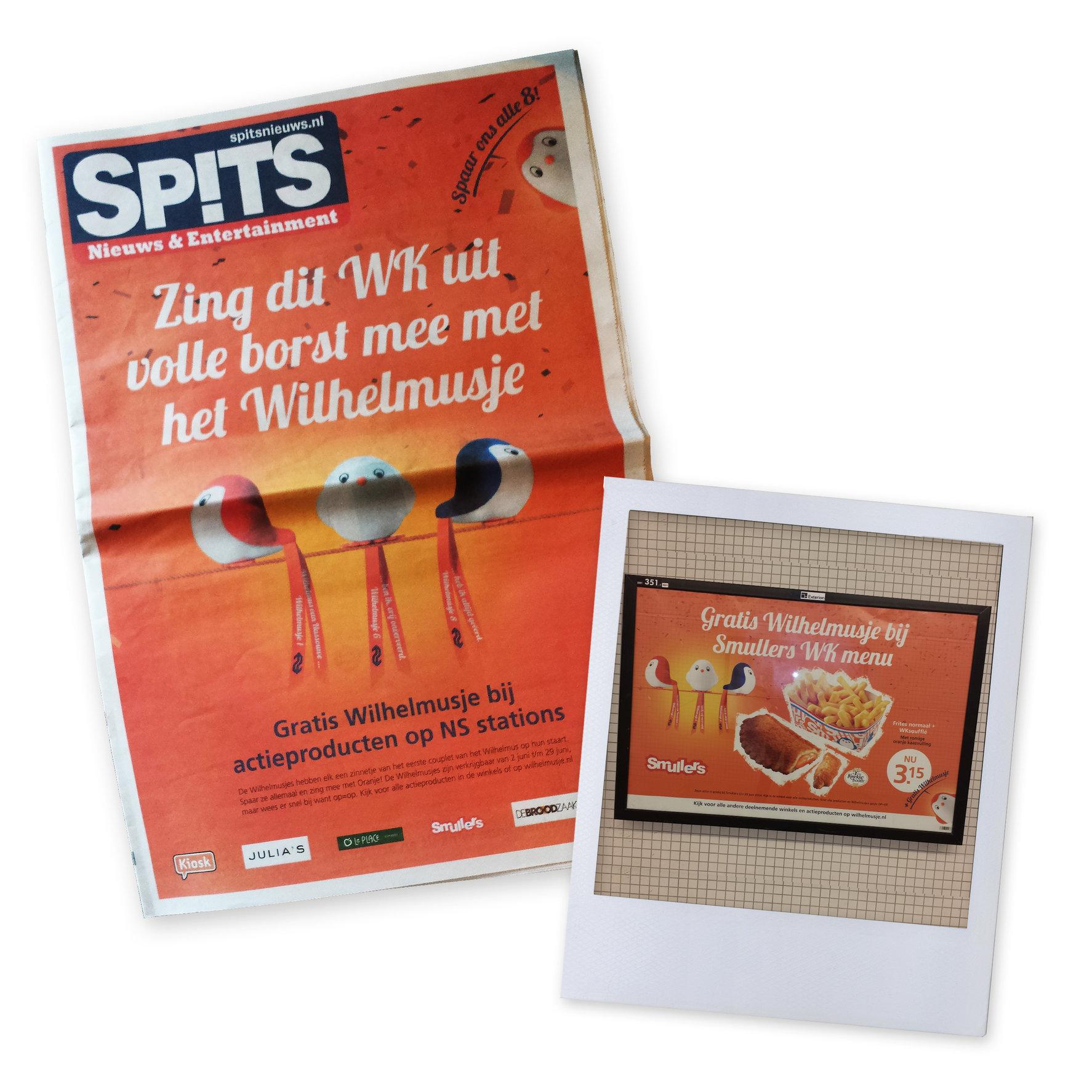 WK-actie Wilhelmusjes | advertenties