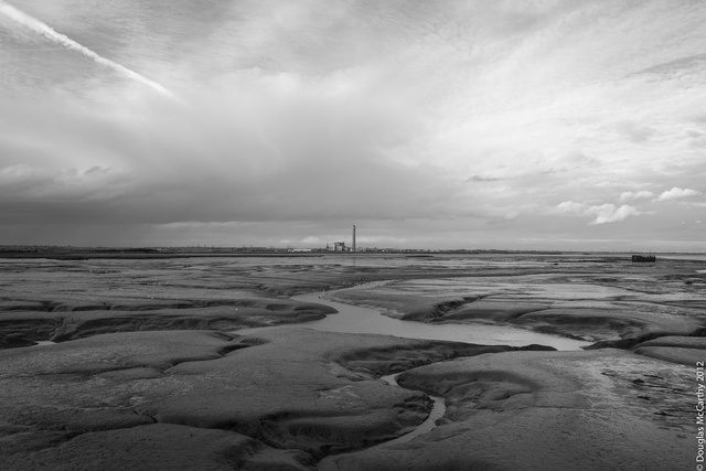 Kingsnorth Power Station from Cinque Port Marshes, River Medway